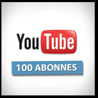 la barre des 100 abonnés dépassée sur notre chaîne YOUTUBE.