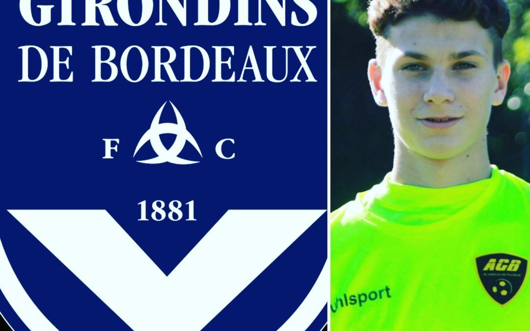 Marvin LYOTH signe 2 ans aux Girondins de Bordeaux.