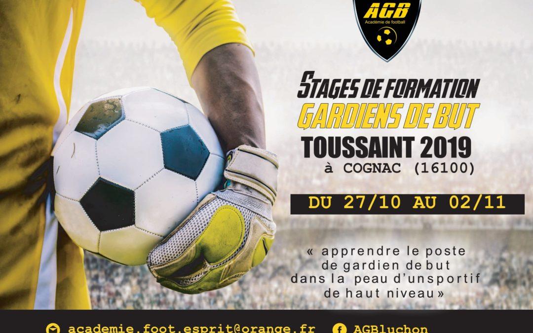 Inscriptions stage AGB Toussaint 2019 à Cognac(16100) ouvertes :