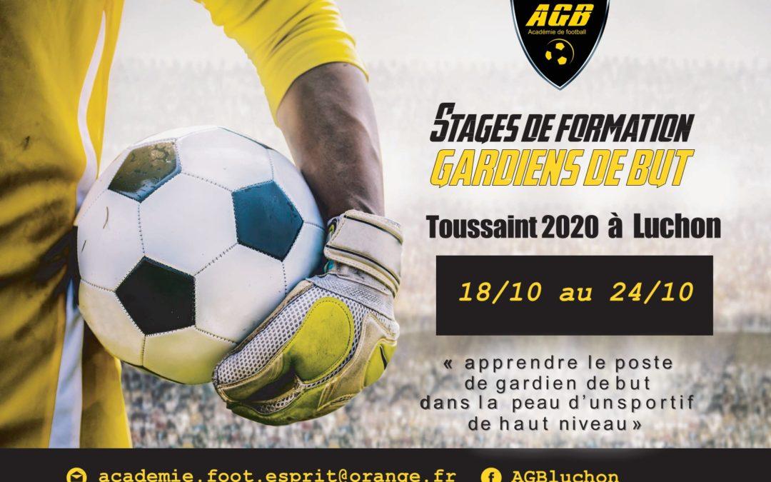 Stage toussaint 2020 : inscriptions ouvertes.