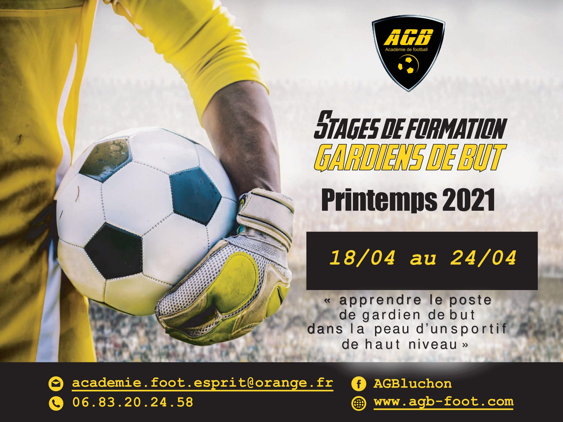 Stage AGB printemps 2021 : inscriptions ouvertes